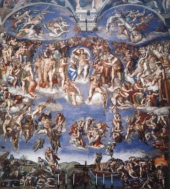 Sistine Chapel Last Judgment Michelangelo