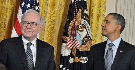 Obama and Warren Buffet