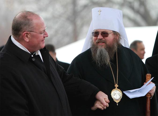 Metropolitan Jonah and Archbishop Timothy Dolan