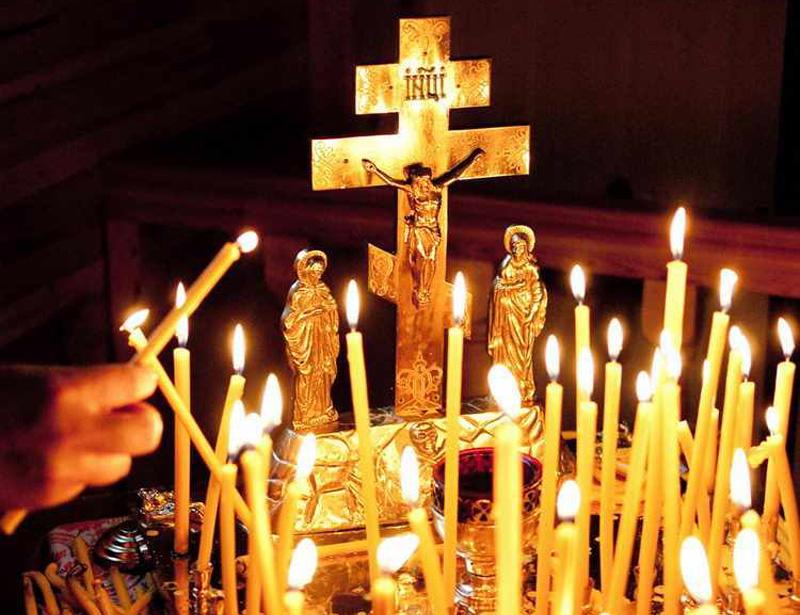 Orthodox Church Holy Week Cross Candles
