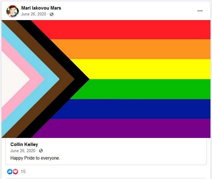 Mari Iakovou Mars Celebrates LGBTQ Pride 2020